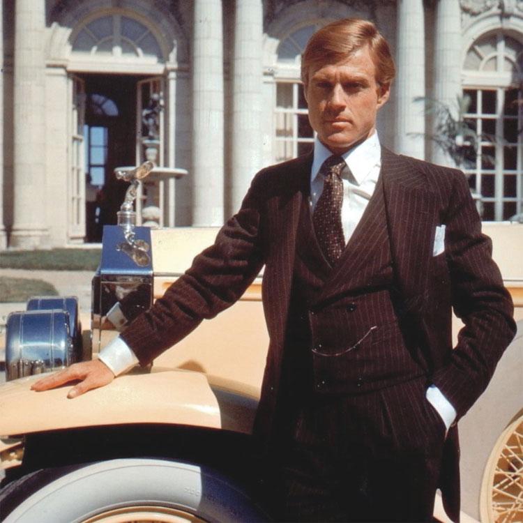 Robert Redford è Gatsby nella versione cinematografica del 1974