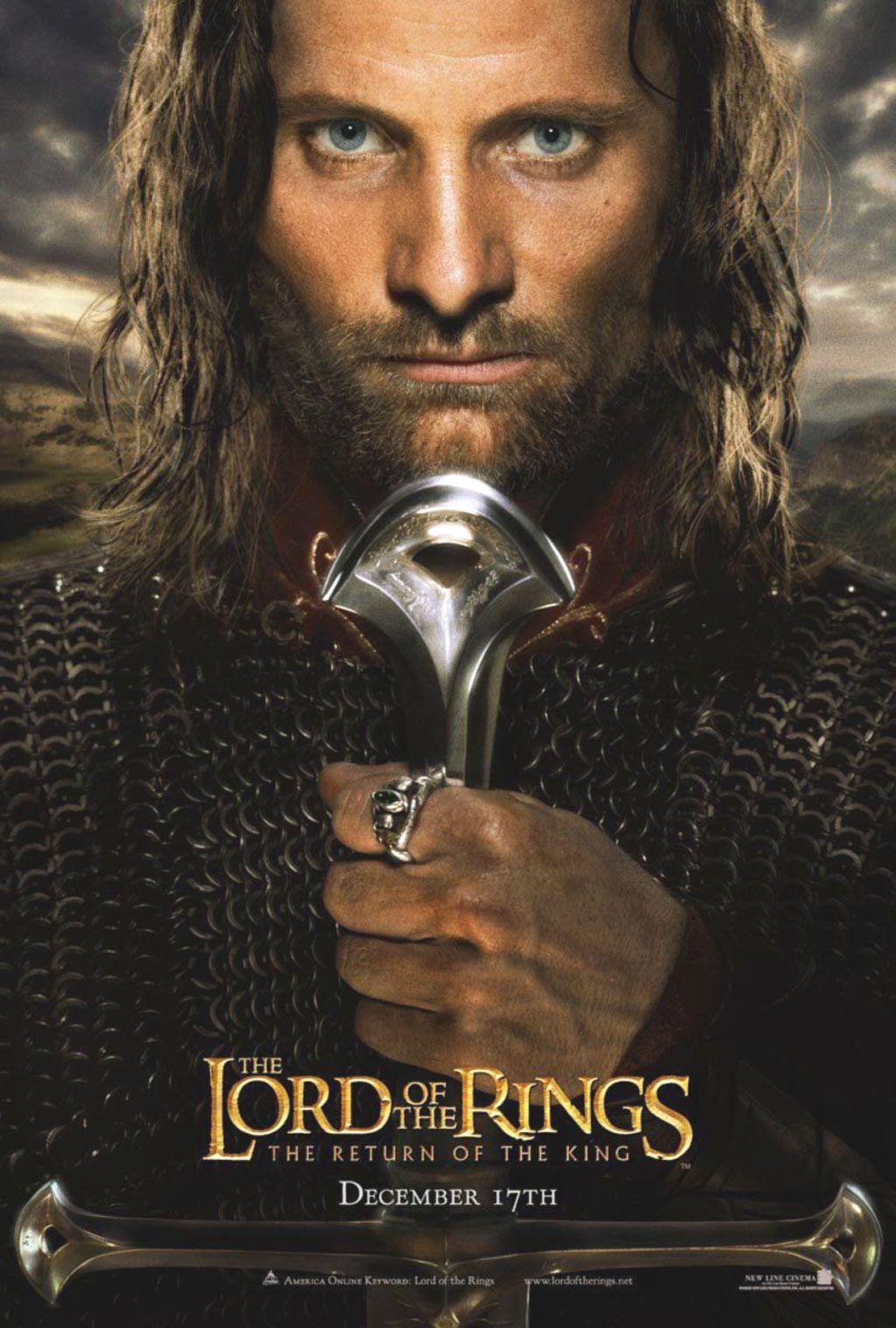 Figli di Gondor! Di Rohan! Fratelli miei! Vedo nei vostri occhi la stessa paura che potrebbe afferrare il mio cuore! Ci sarà un giorno, in cui il coraggio degli uomini cederà, in cui abbandoneremo gli amici e spezzeremo ogni legame di fratellanza, ma non è questo il giorno! Ci...