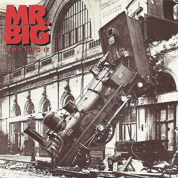 """Mr. Big, """"Lean into it"""" (1991) - Copertina del disco"""