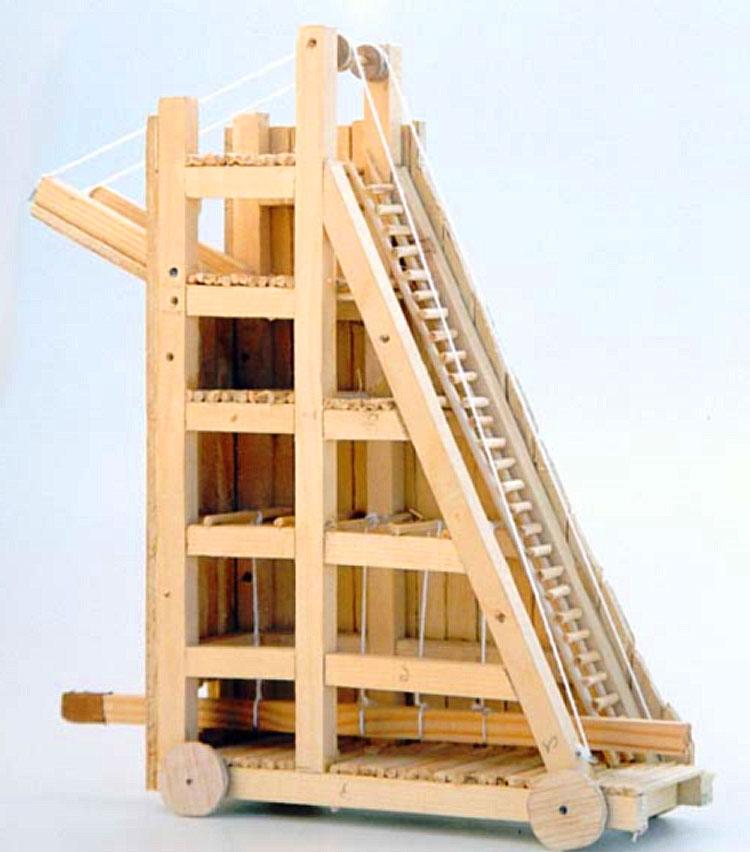 Elepoli, modellino di una torre d'assedio