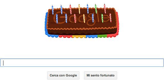 Google - Doodle per il suo 14° compleanno (27 settembre 2012)