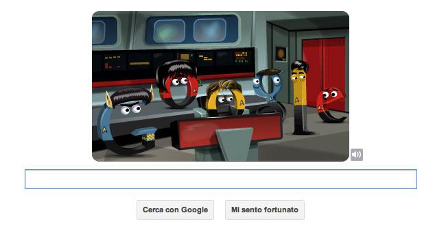 Logo Google celebrativo di Star Trek - La plancia