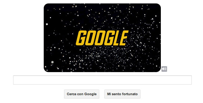 Logo Google celebrativo di Star Trek