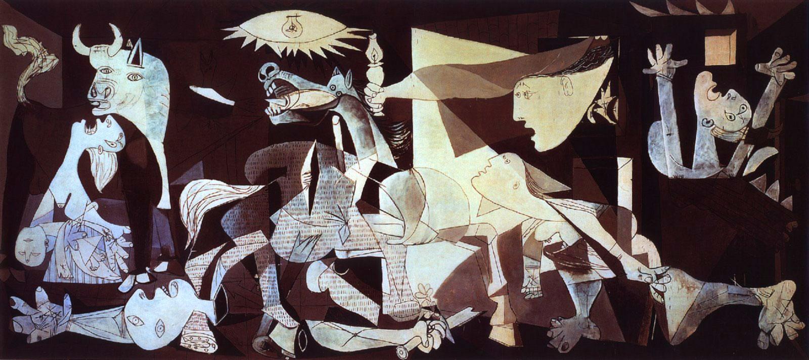 Guernica, celebre opera di Picasso (1937)