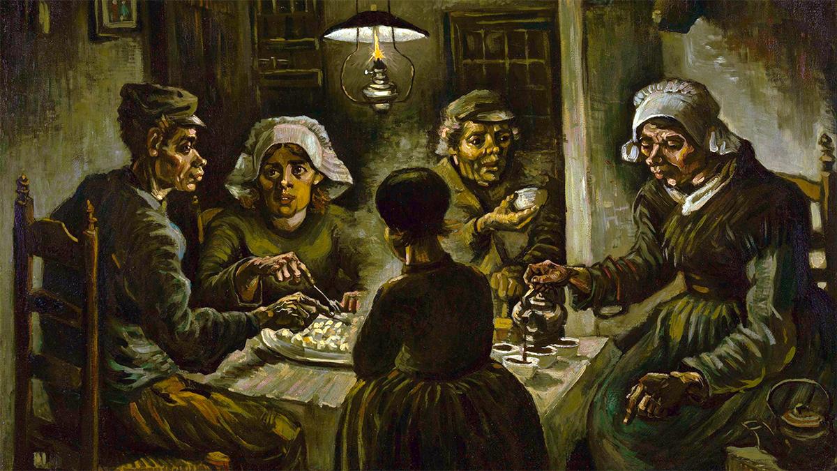 Quadro Mangiatori di patate, di Van Gogh