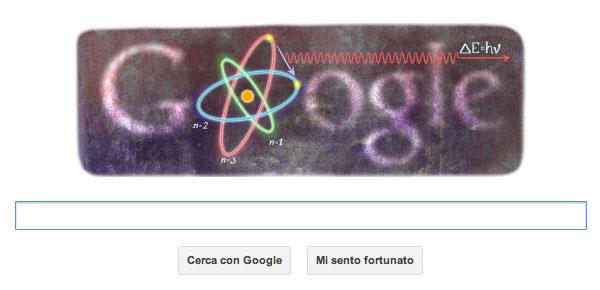 Doodle Google dedicato a Niels Bohr
