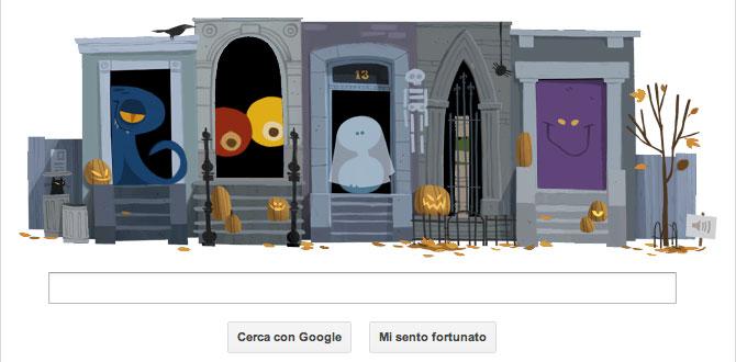 Happy Halloween!, il doodle Google che celebra la festa di Halloween (2012)