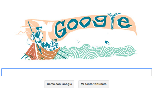 Herman Melville, Moby Dick - doodle Google