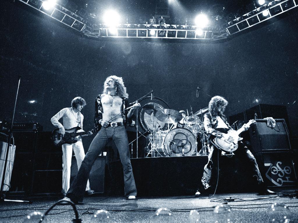 Led Zeppelin, una foto live