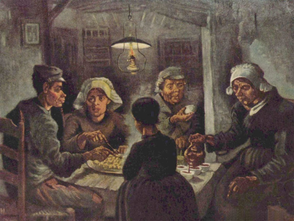I mangiatori di patate (Potato eaters), di Vincent Van Gogh