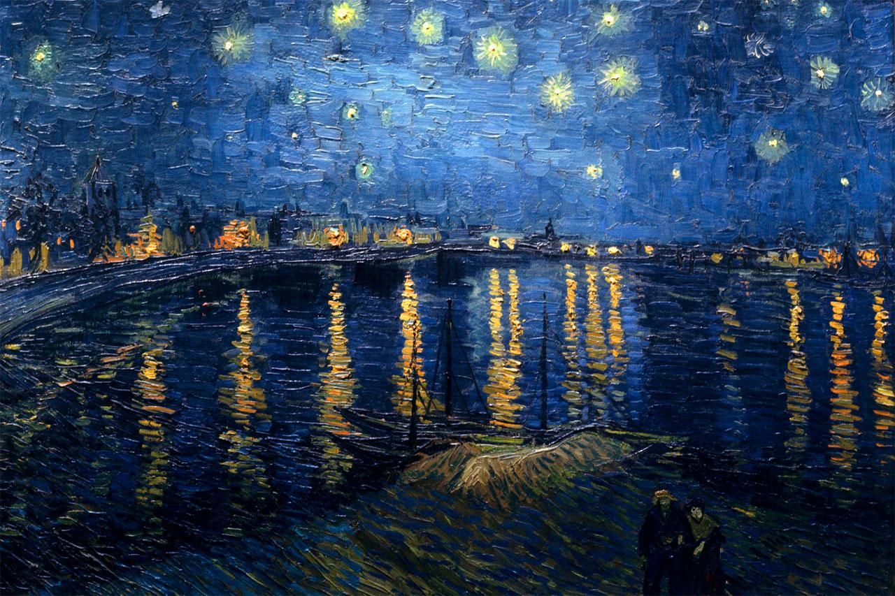 Notte stellata sul Rodano (1888, olio su tela, 72.5×92 cm, Musée d'Orsay, Parigi)
