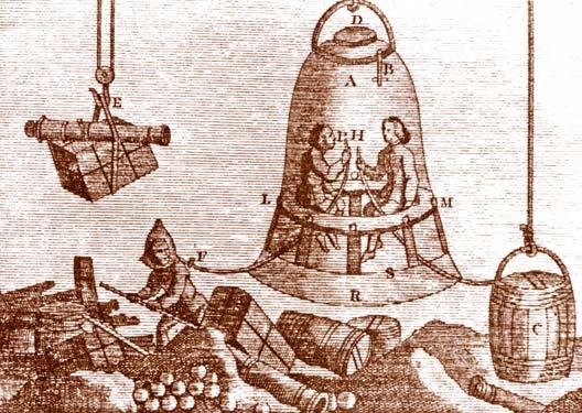 Antica campana subacquea