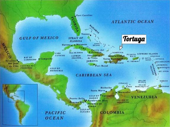 L'isola di Tortuga, nel Mar dei Caraibi