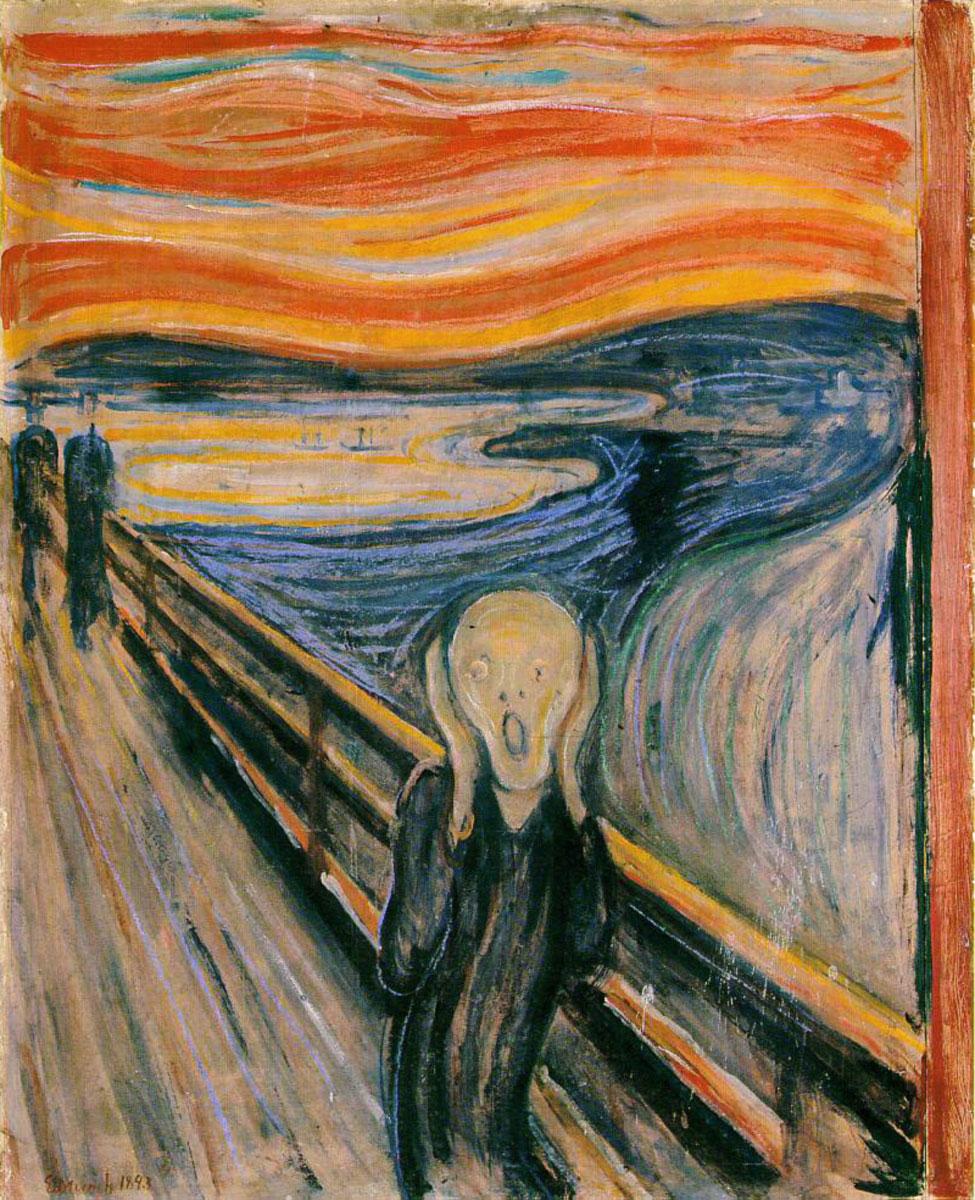 "Edvard Munch, ""L'Urlo"" (1893)"