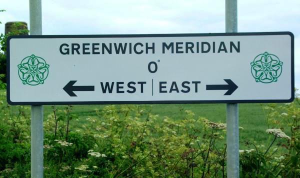 Dal Meridiano di Greenwich viene misurata la longitudine est ed ovest