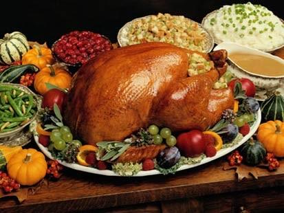 Il menu tipico del giorno del ringraziamento - Tacchino stampabile per il ringraziamento ...