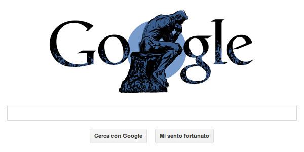 Doodle Google celebrativo di Auguste Rodin