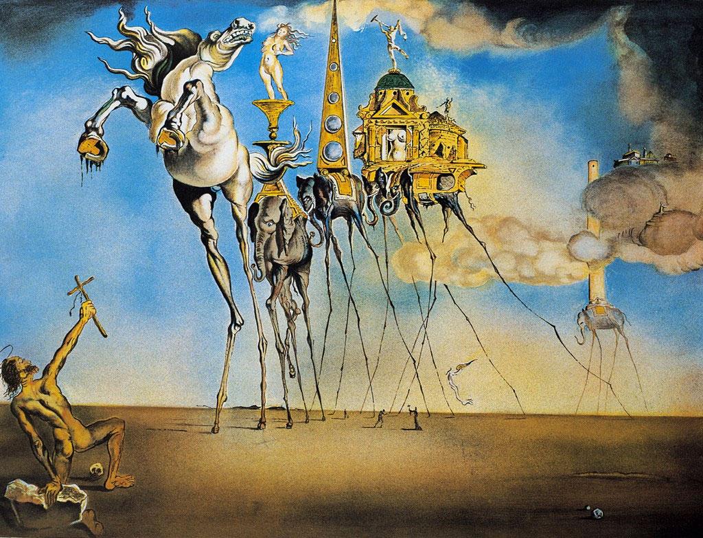 Salvador Dalì, La tentazione di Sant'Antonio (1946)