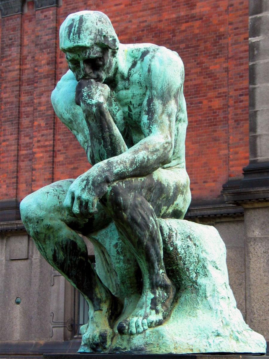 Risultati immagini per statua pensatore