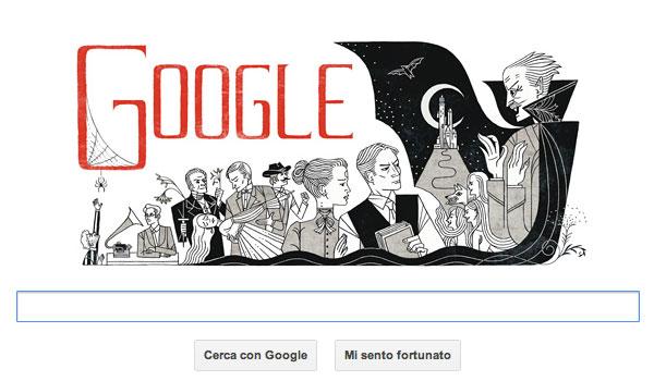 Doodle Google dedicato a Bram Stoker, 8 novembre 2012