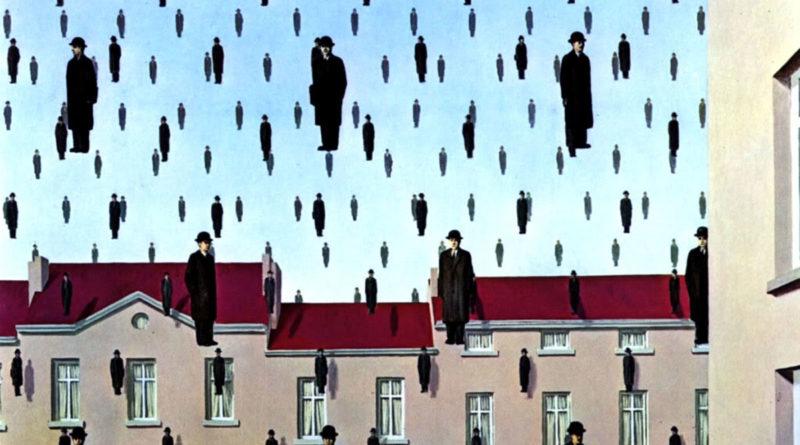 Golconda (1953, Olio su tela 81×100 cm) di René Magritte