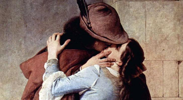 Hayez, dettaglio de Il Bacio