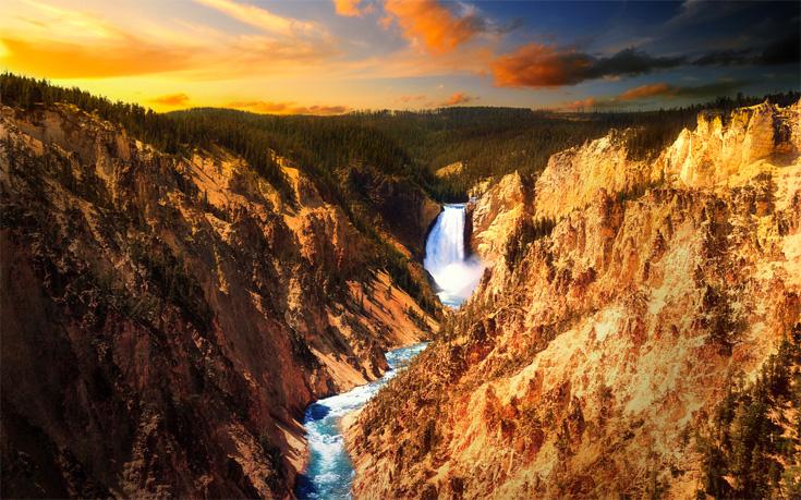 Cascate di Yellowstone