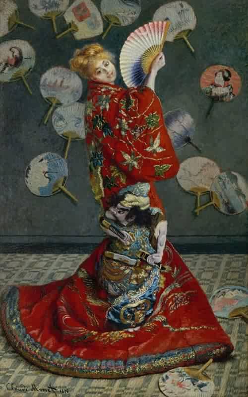 Claude-Monet-xx-La-Japonaise-Camille-Monet-in-Japanese-Costume-1876 (1)