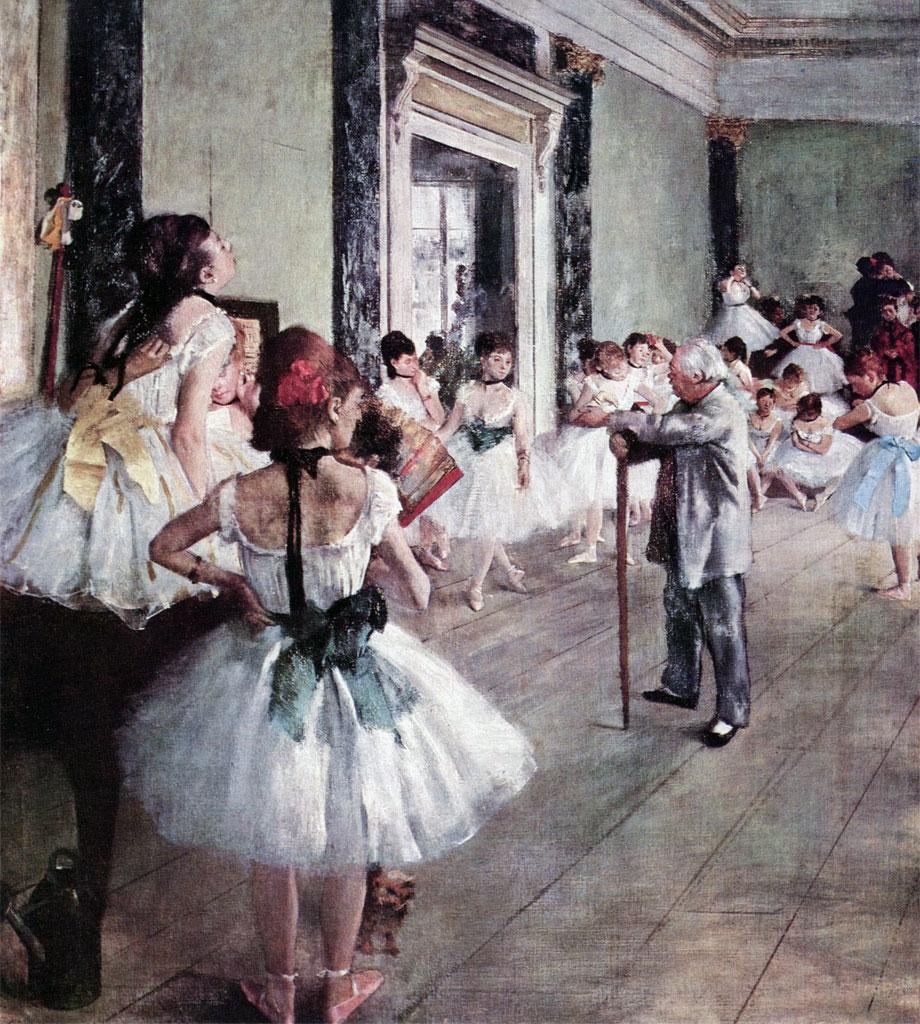 La classe di ballo (1873-1875), opera di Edgar Degas