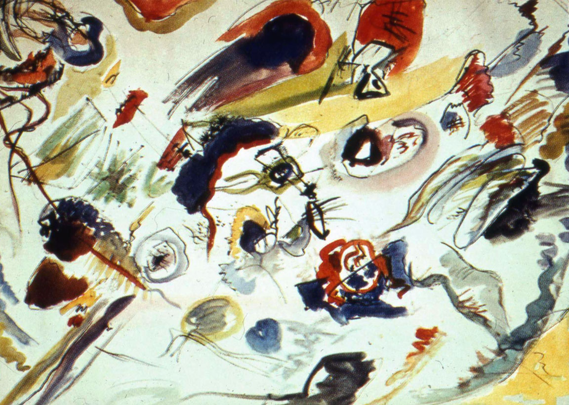 Kandinskij, primo acquerello astratto (1910)