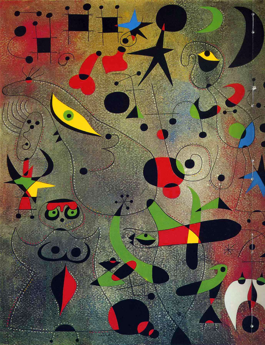 Risveglio all'alba, Costellazioni, Joan Miro, 1941