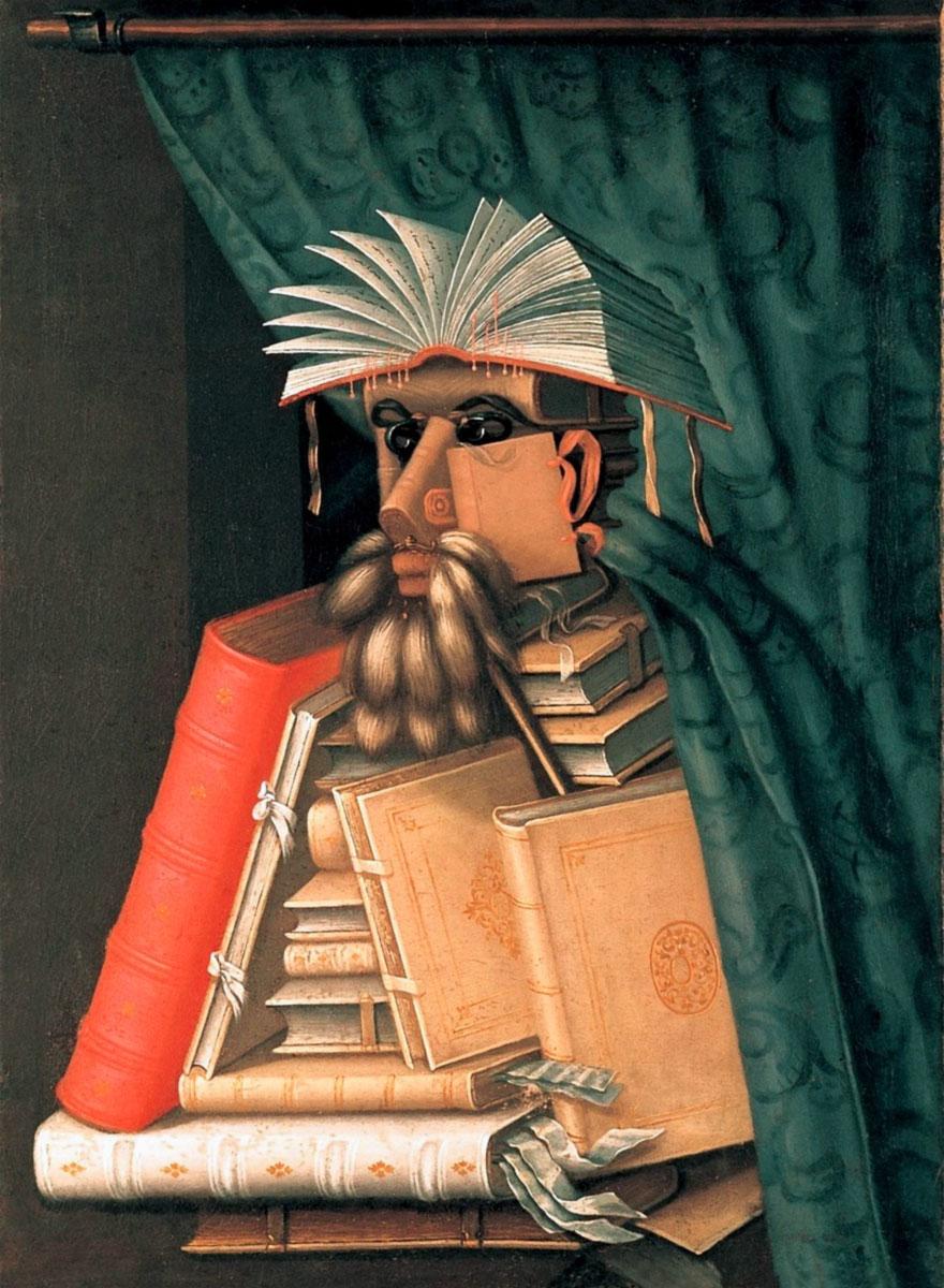 Il Bibliotecario (1566) di Giuseppe Arcimboldo