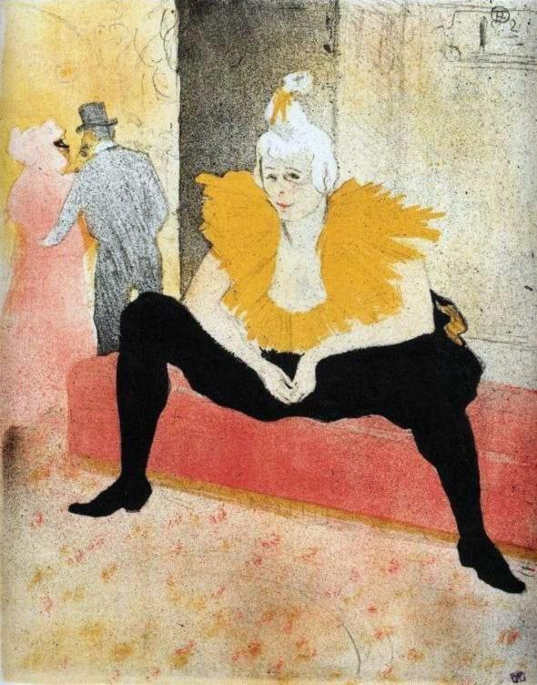 Donna pagliaccio seduta, Henry de Toulouse-Lautrec (1896)