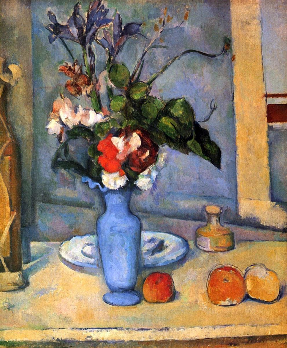 Vaso blu, famoso quadro di Paul Cézanne