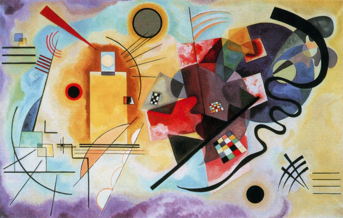 Kandinsky: Giallo, rosso e blu (1925)