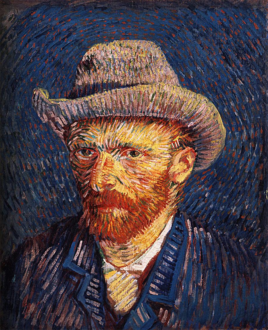 Autoritratto con capello di feltro (Vincent van Gogh)