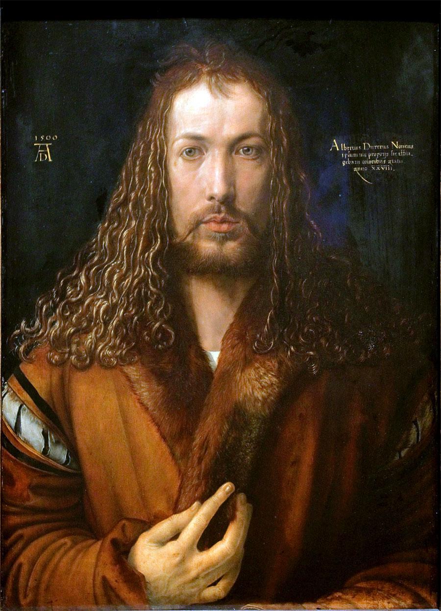 Autoritratto con pelliccia, di Albrecht Durer