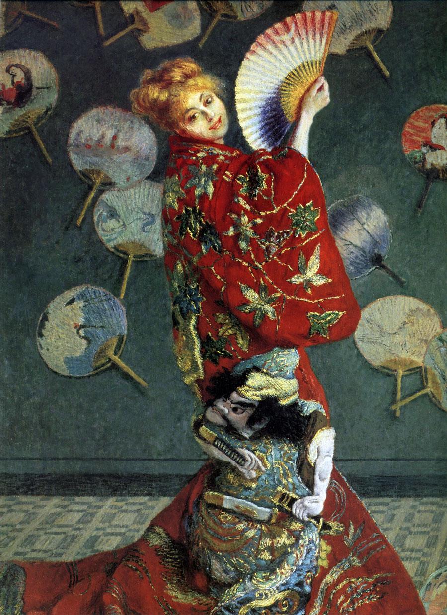 Camille Monet con un costume giapponese (Claude Monet, 1876)