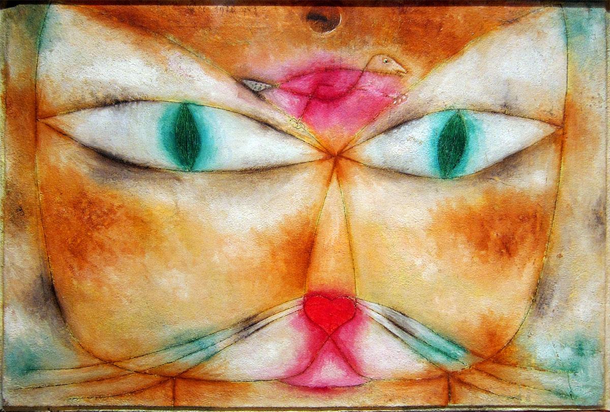 Gatto e uccello Paul Klee
