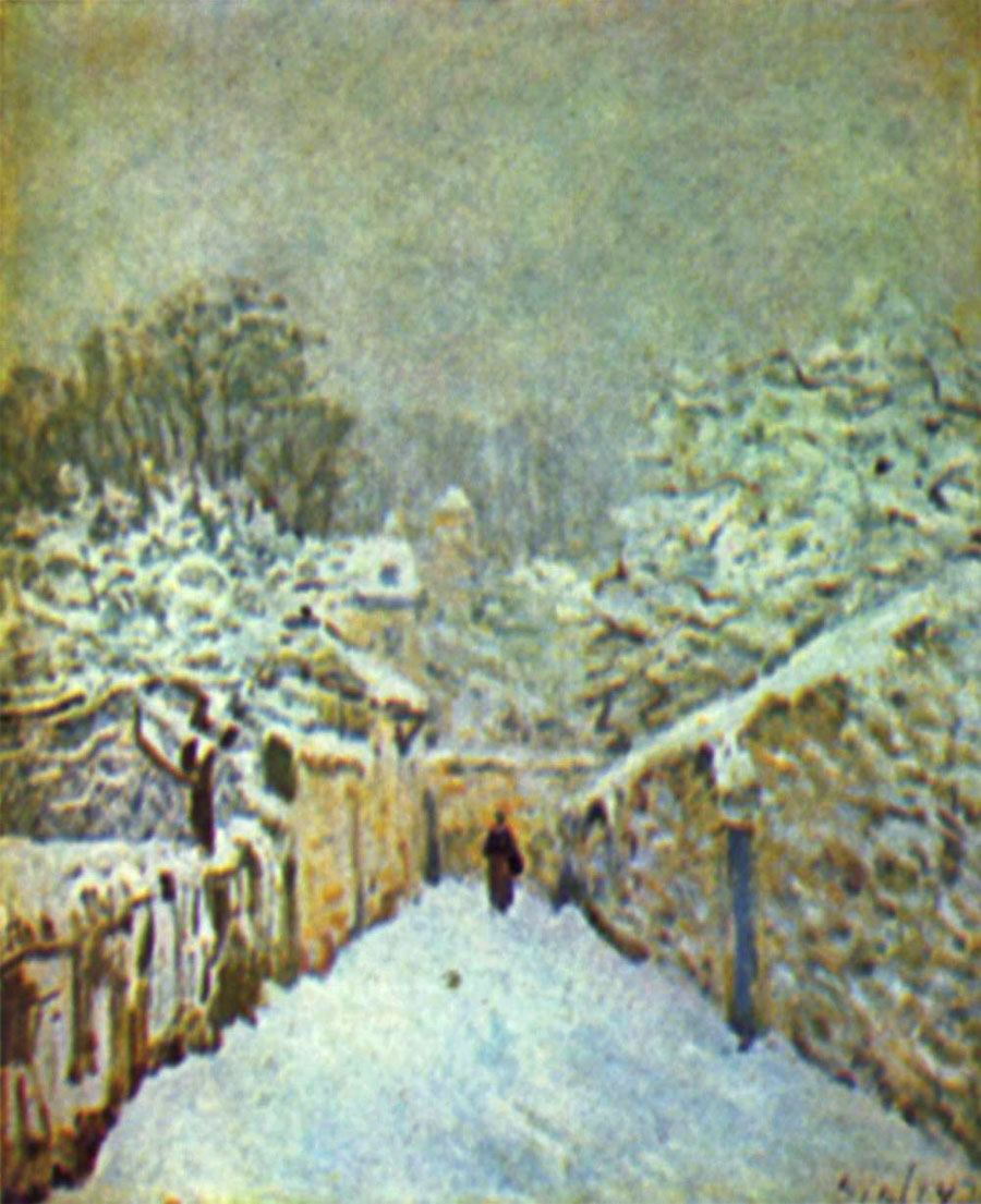 Neve a Louveciennes (di Alfred Sisley)