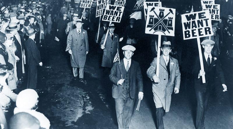 Una manifestazione di protesta contro il Proibizionismo