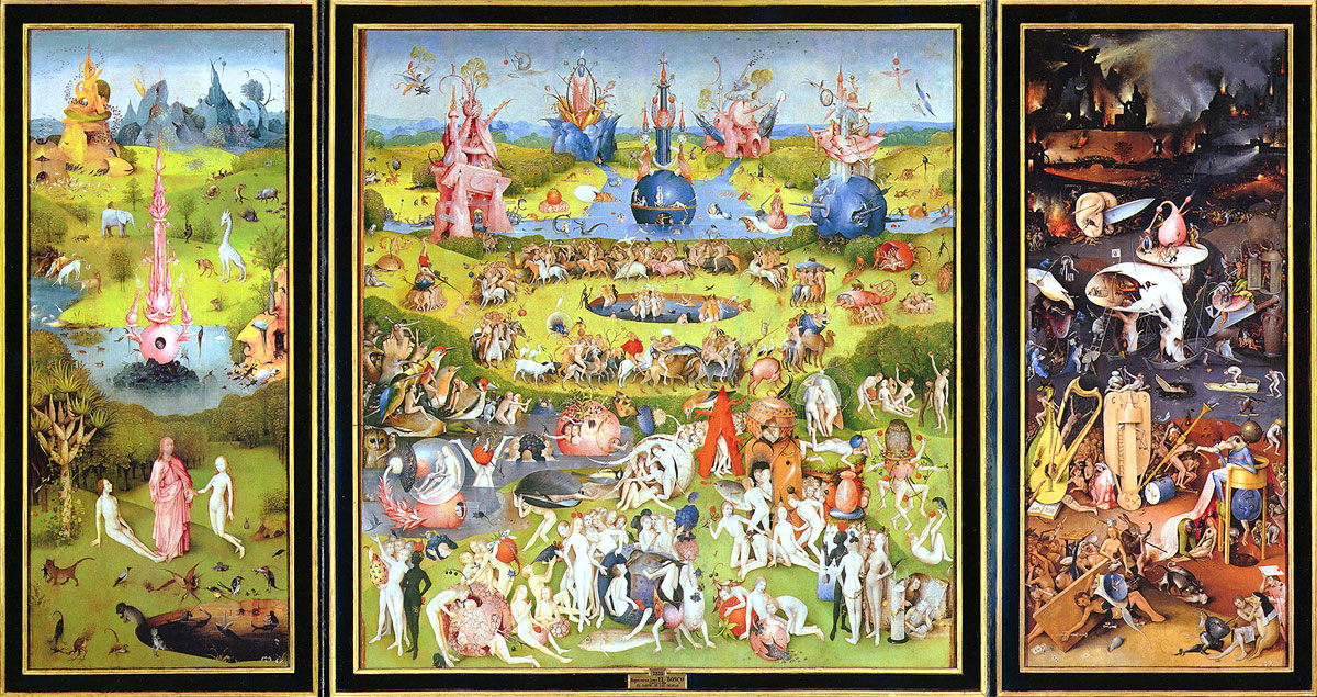 Trittico del Giardino delle Delizie, opera di Hieronymus Bosch