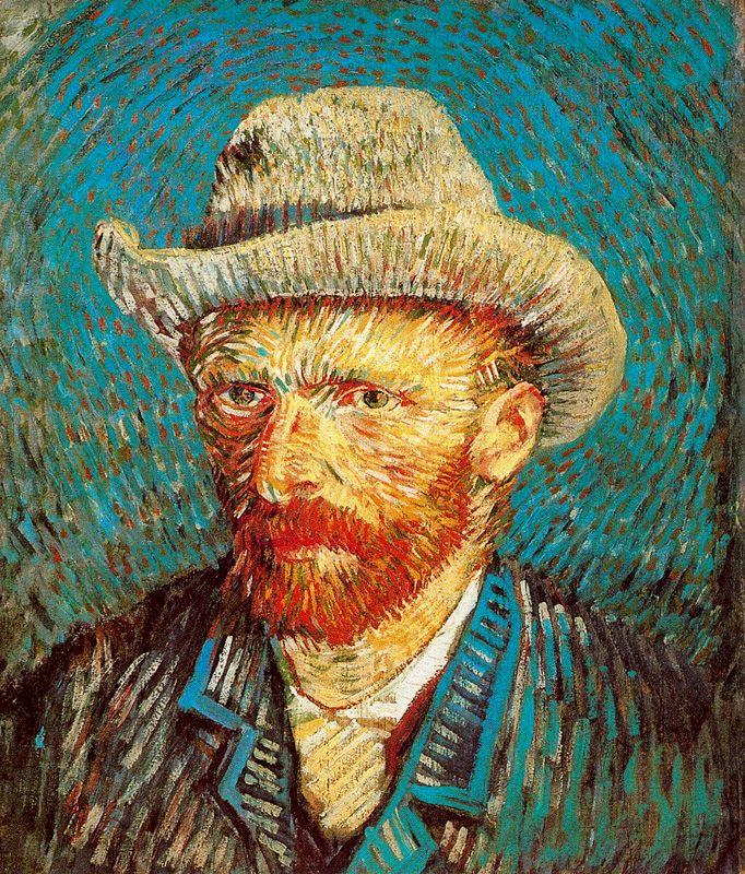 Autoritratto con cappello di feltro (Vincent van Gogh)