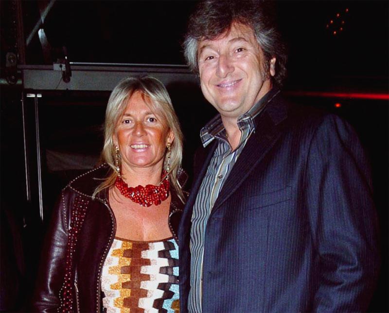 Vittorio Missoni con la moglie