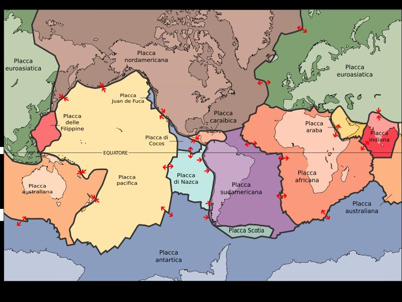 Terremoto: Placche tettoniche