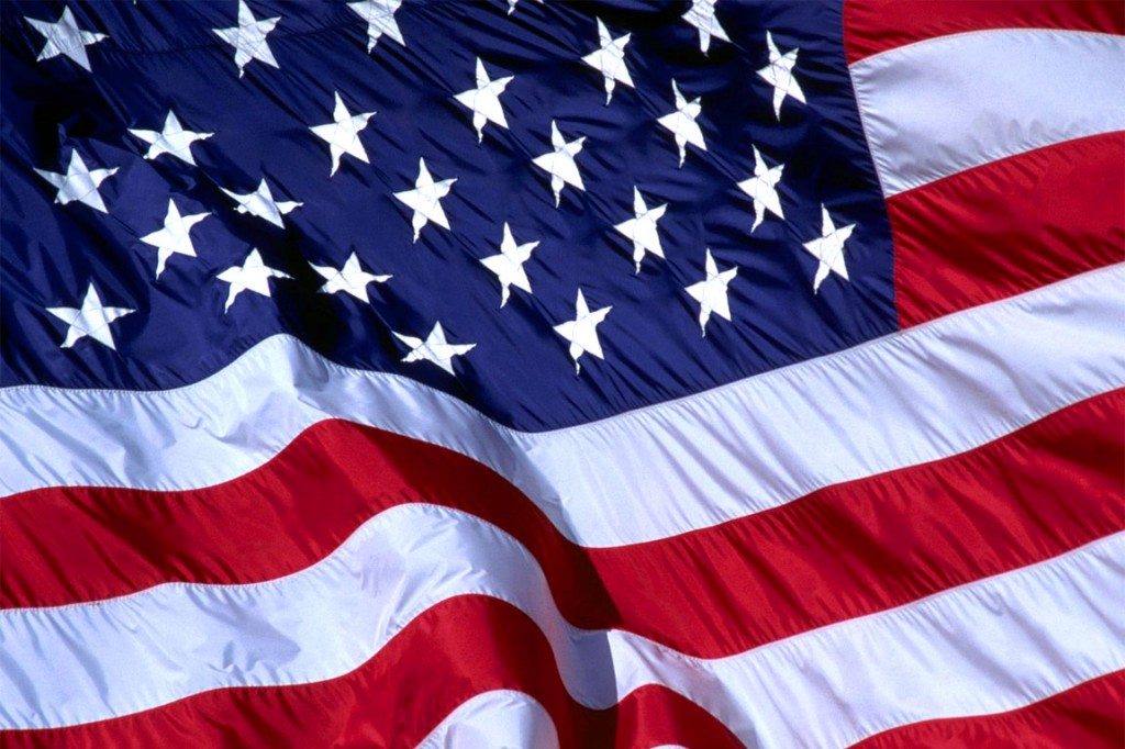 La bandiera degli Stati Uniti d'America