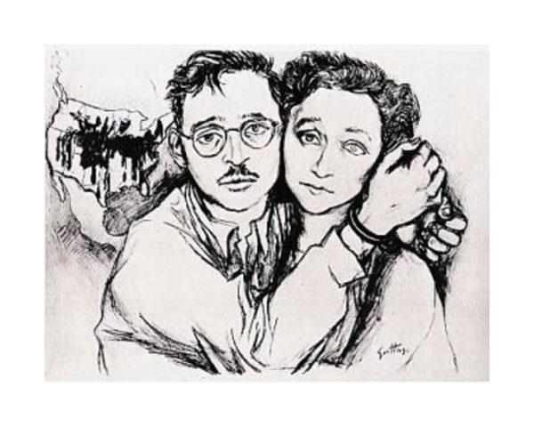Renato Guttuso: Ritratto di Julius ed Ethel Rosenberg