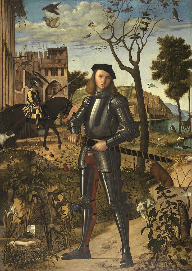 Vittore Carpaccio - Giovane cavaliere in un paesaggio