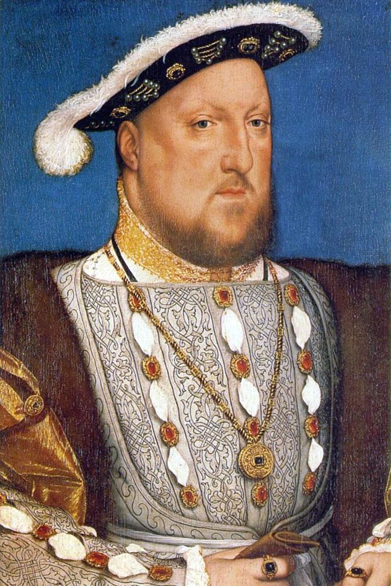 Enrico VIII ritratto da Hans Holbein