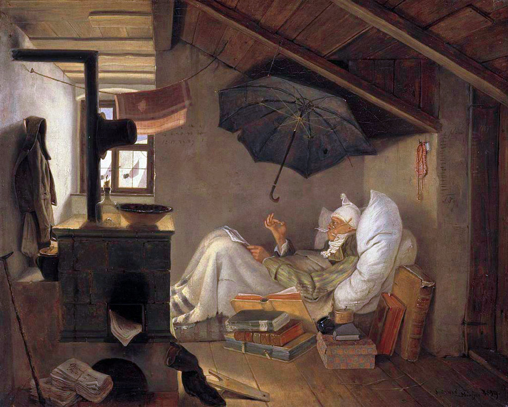 Karl Spitzweg, Il poeta povero (1839)